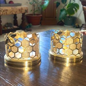 Honeycomb/ honeybee candle holders